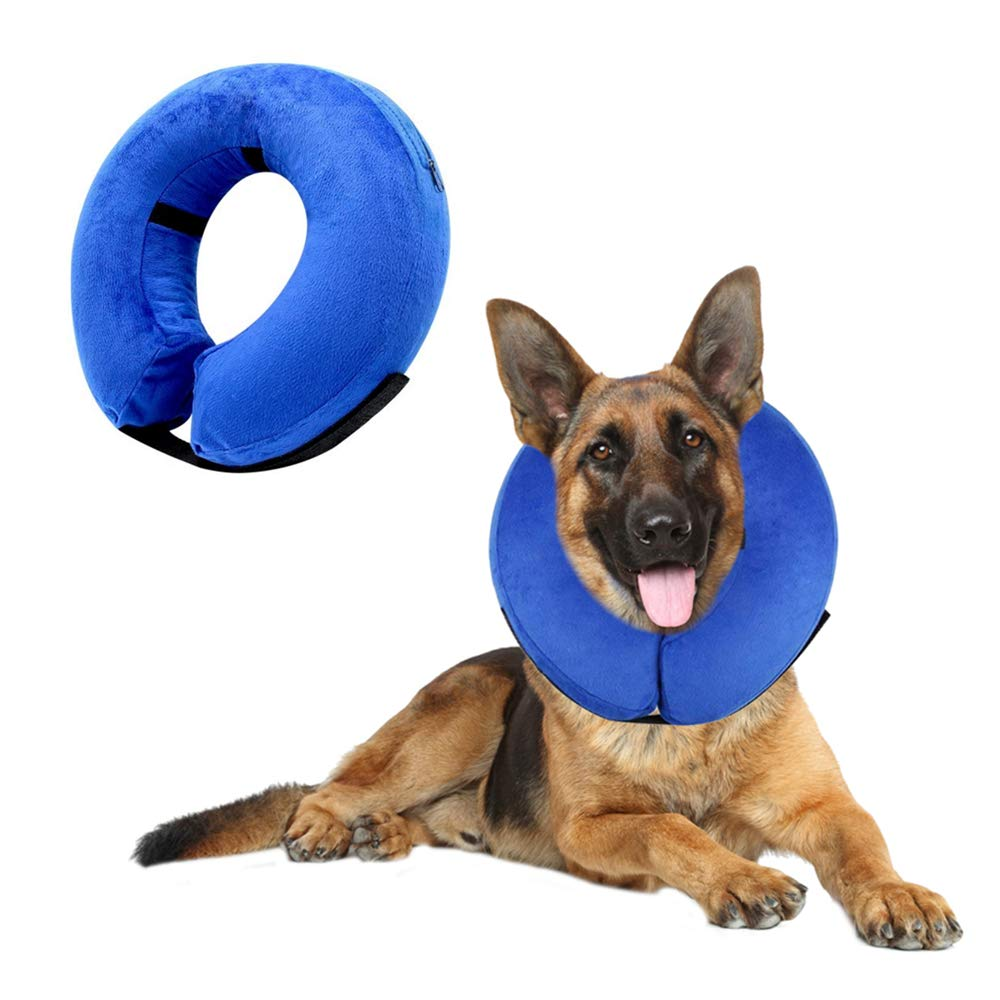 VST Comfy Cone for Dogs,Protective Inflatable Soft Dog Cone Collar,Pet Recovery Cone Dog E-Collar Cones Alternative after Surgery Prevent Pets from Touching Biting Scratching at Injuries Wounds-Large by VST