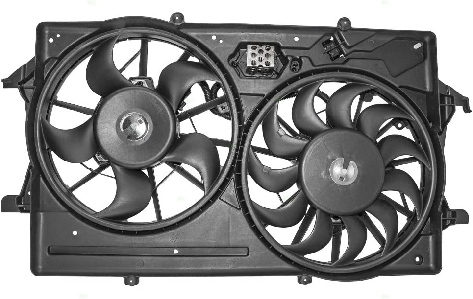 Dual Cooling Fan Assembly Replacement for Ford 1S4Z8C607AA