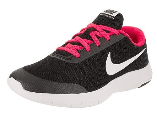 huge selection of 1f52e e1a4e Nike Kids Flex Experience Rn 7 (GS) Black White Racer Pink Running