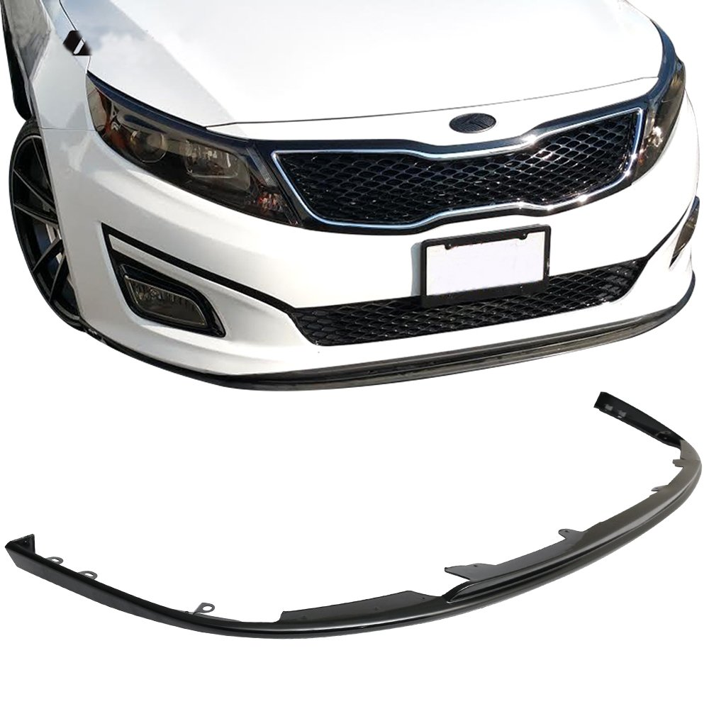 Front Bumper Lip Fits 2014-2015 Kia Optima   Ikon Style Black PP Front Lip Finisher Under Chin Spoiler Add On by IKON MOTORSPORTS