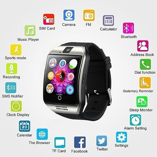 ❤️SmartWatch Bluetooth 3.0 Btruely Herren Pulsera Actividad Reloj Inteligente Support SIM para teléfonos Impermeable Deporte Fitness Tracker con Contador ...