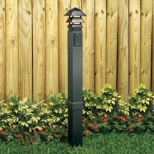 Amazon.com  Arlington Industries GP37B-1 Gard-N-Post Outdoor Landscape Lighting Garden Post 37-Inch Black  L& Post  Garden u0026 Outdoor & Amazon.com : Arlington Industries GP37B-1 Gard-N-Post Outdoor ...