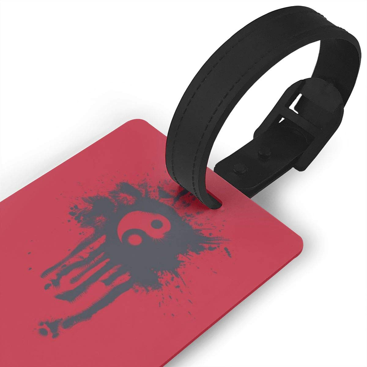 Yin Yang Red Baggage Tag For Travel Tags Accessories 2 Pack Luggage Tags