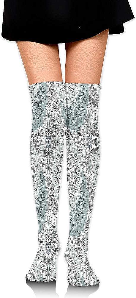 Over Knee High Socks,Arabesque Tile Art Mandala with Oriental Touch Eastern Style Tribal Ethnic Spiritual Motif,60CM