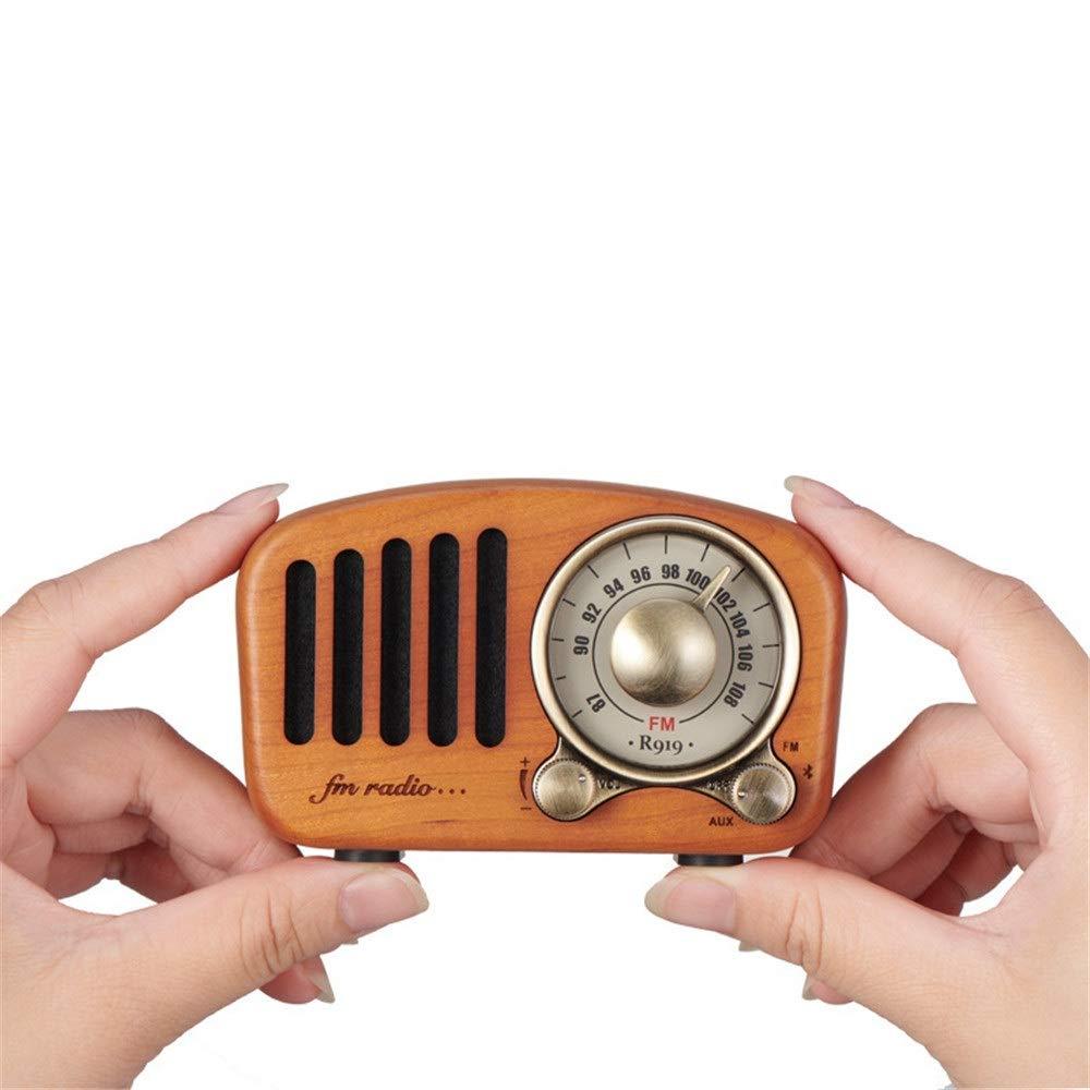 レトロ ブルートゥーススピーカー FMステレオ付きワイヤレスステレオレトロスピーカーブルートゥーススピーカーラジオポータブルブルートゥースヴィンテージスピーカーブルートゥース4.2 3.5mmオーディオ入力ジャックとTFカードポート (色 : B) B07SX1S22D B