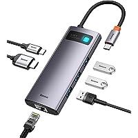 Adaptador hub USB C 6 em 1, estação de ancoragem Baseus com portas de carregamento 4K HDMI, 100W PD, 3 portas USB 3.0…