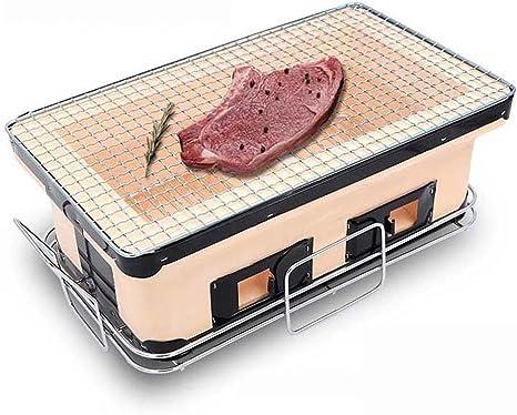 PINGUINO Rejilla de Barbacoa de carbón de Estilo japonés, Parrilla de Arcilla para Acampada al Aire Libre, Parrilla de Mano Pesada: Amazon.es: Jardín