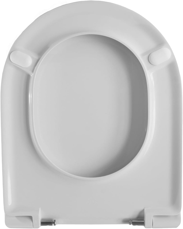 Oui sedileria toilette Dolomite Clodia consacr/é abattant wC Charni/ère Standard