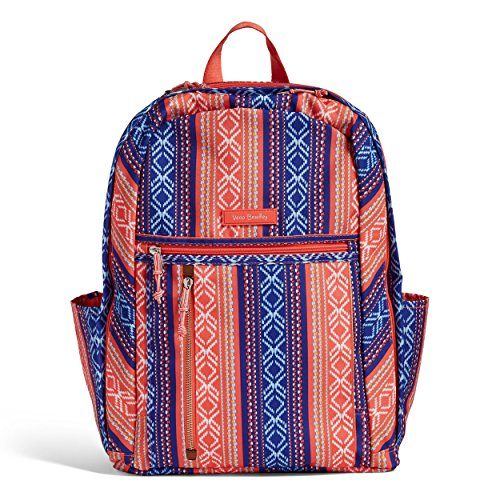 Stripe Grand (Vera Bradley Lighten up Grand Backpack, Polyester, Bright Serape Stripe)