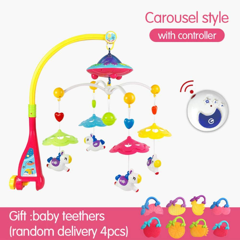Poetray Baby Bed Bell Newborn 0-12months Toy Rotating Music Hanging Baby Rattle Bracket Set Baby Crib Mobile Holder Baby Toys Carousel