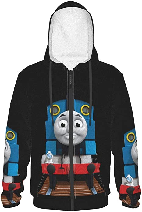 Thomas /& Friends Thomas The Train Pullover Fleece Raglan Hoodie Red//Grey