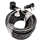 Parkworld 884821 Industrial NEMA 10-50 Extension Cord, 3-Prong, 50 AMP, 250 Volts, 12500 Watts. (50FT) (Color: Black, Tamaño: 50 ft)