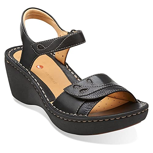 Clarks Un.Dory Womens Black Leather Sandal 5.5-MEDIUM