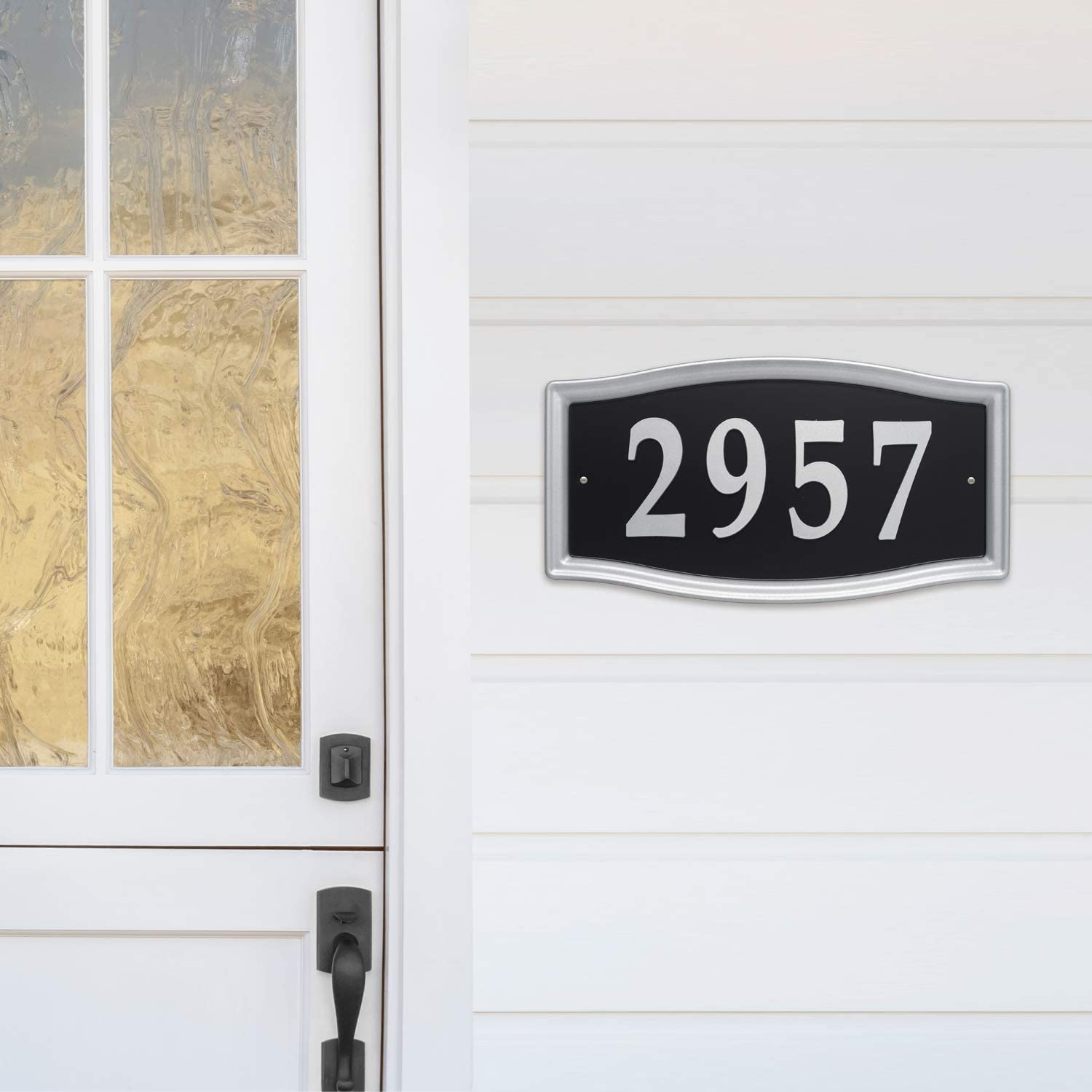 Whitehall Products 11199 Easy Street Address Plaque-Silver