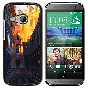 Plastic Shell Protective Case Cover || HTC ONE MINI 2 / M8 MINI || Architecture Town Old @XPTECH