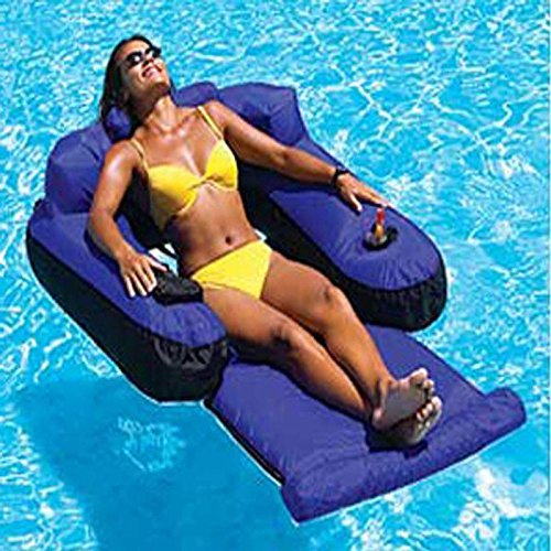 Ultimate Fabric Covered Inflatable Swimming Pool Lounger Float by Swimming Pool Inflatable Rafts