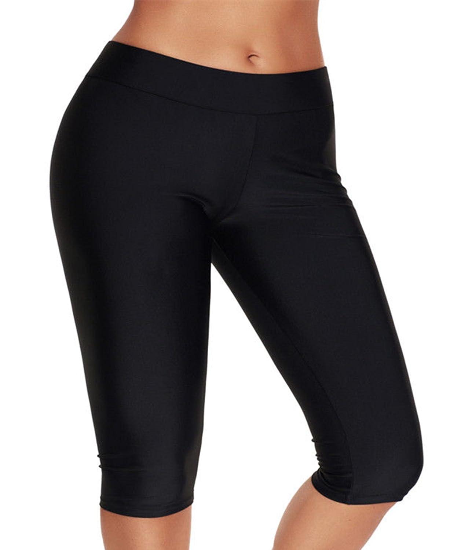 Crazycatz@ Women Swim Shorts Bikini Bottom Running Yoga Leg Swim Short