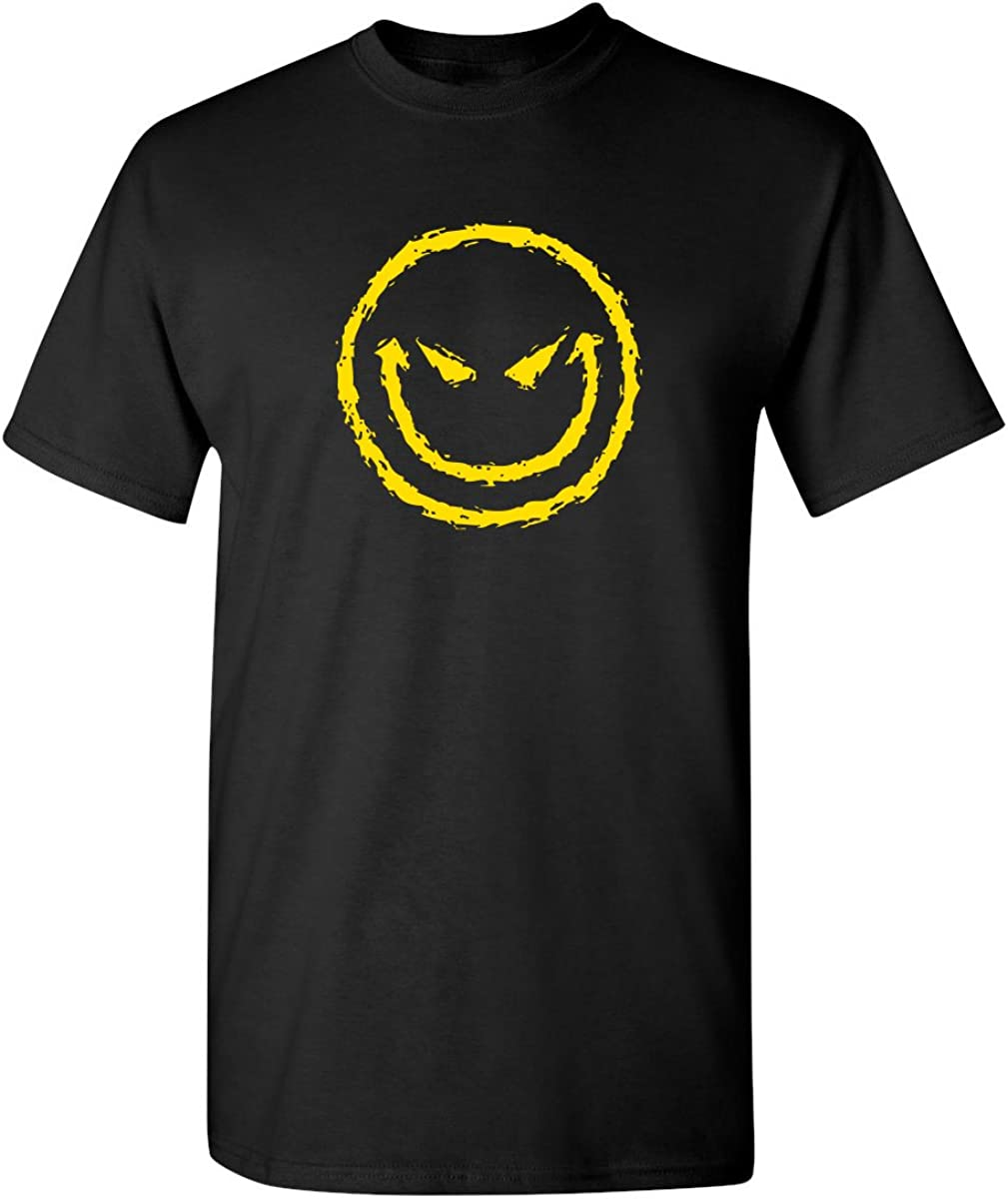 Evil Smile Face Graphic Novelty Sarcastic Funny T Shirt