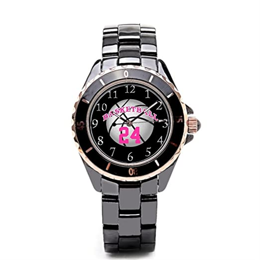 Queensland marca relojes número de cerámica relojes para hombre baloncesto: Amazon.es: Relojes