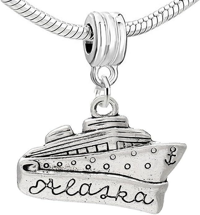 Alaska Gift Alaska Charm Jewelry Alaskan Jewelry Alaska Jewelry Alaska Charm Bracelet Alaska Alaska Bracelet- choose a birthstone