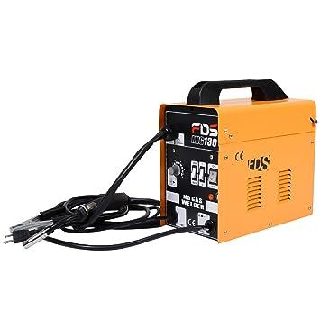 Aparato de Soldadura MIG (gas) Máquina de Soldar Portátil Eléctrico (Amarillo): Amazon.es: Bricolaje y herramientas