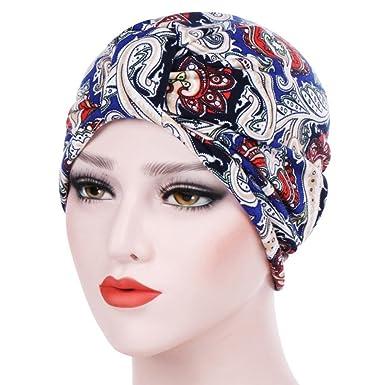 Hats for Ladies Jamicy Women Muslim Stretch Turban Hat Chemo Cap Hair Loss Head  Scarf Wrap 2f95c431e4be