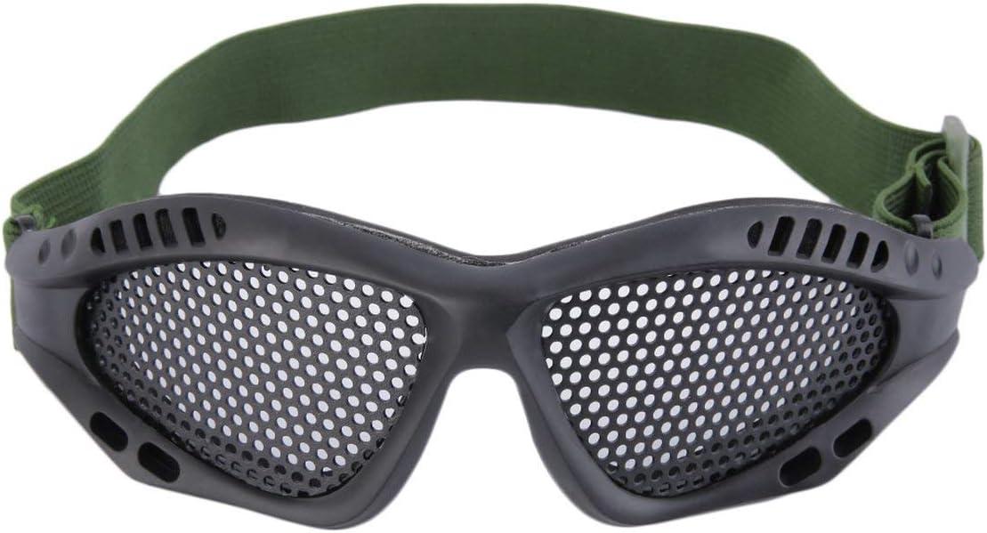 Tree-on-Life Gafas tácticas Al Aire Libre Gafas Protectoras Malla metálica CS Juegos Airsoft Guardia de Seguridad con Banda elástica Ajustable