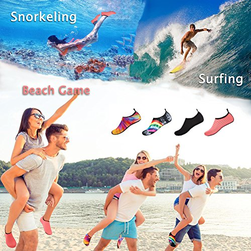naranja Dive Shoes Stripe Barefoot Beach 9 Water Black 12 Yoga Womens Aqua Socks XL Surf Freerace Skin 11 W Quick Swim Stripe Drying M Mens for 5 Shoes 10 faz0O