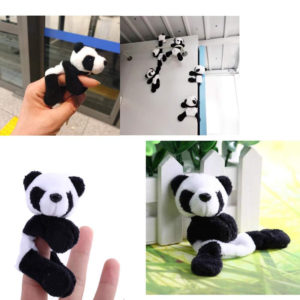 Comidox 4Pcs Cute Soft Plush Panda Fridge Magnetic Sticker Refrigerator Sticker Gift Souvenir Home Decor