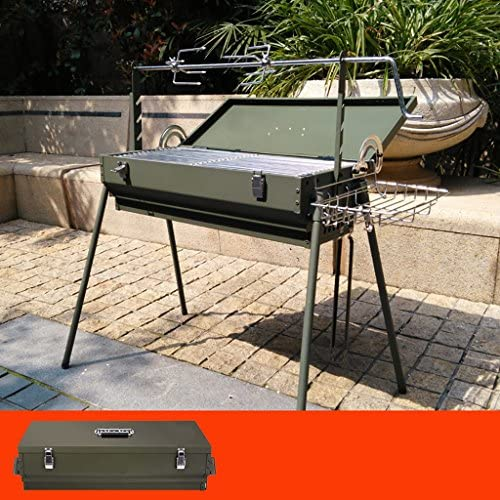 kaolou Barbecue en plein air maison épaissir outil gril grande voiture sac de pique-nique portable pour 5 ou plus (taille : B)