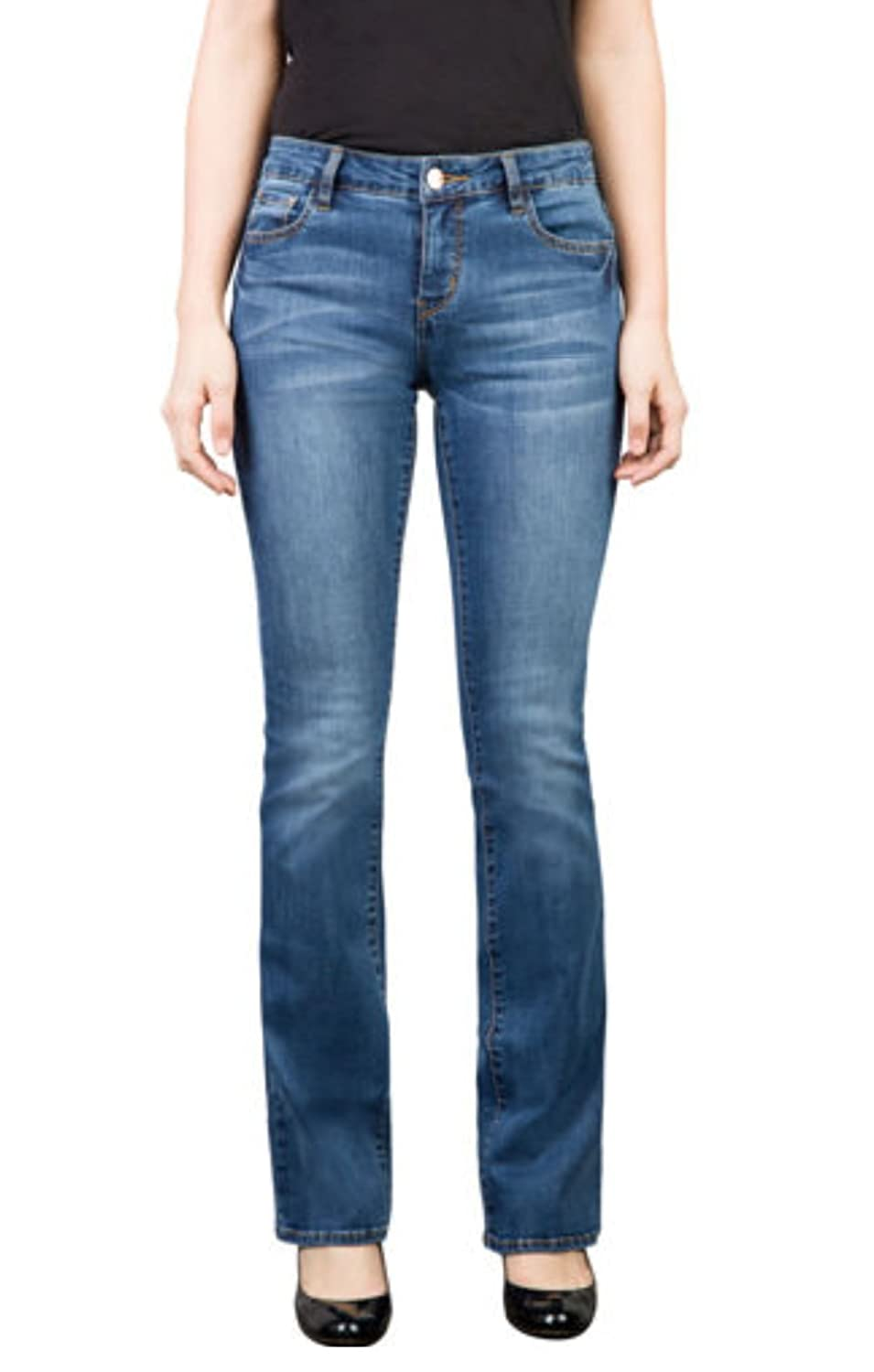 !iT Collective Women's Marty Corset Slim Bootcut Jean