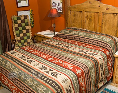 Plush Southwest Bed Spread KING Size -Santo Domingo