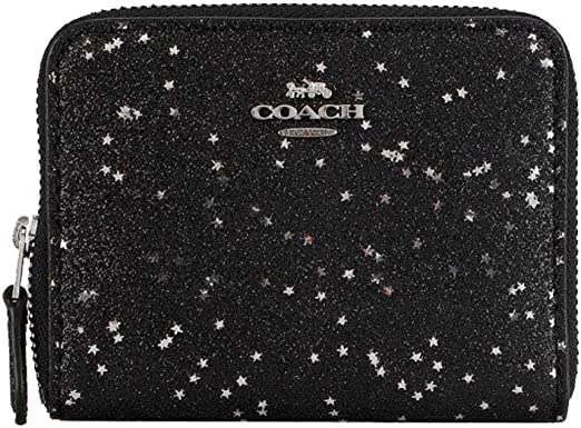 New Small Star Print Canvas Ladies Zipped Large Wallet Purse