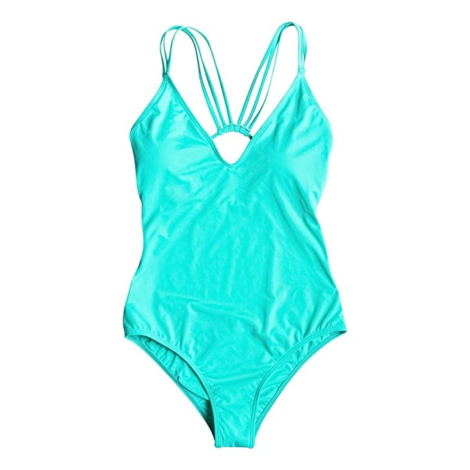 Amazon.com: Roxy – Paradise V-Neck Monikini traje de baño ...