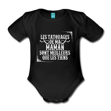 Spreadshirt Les Tatouages De Ma Maman Body Bebe Bio Manches Courtes