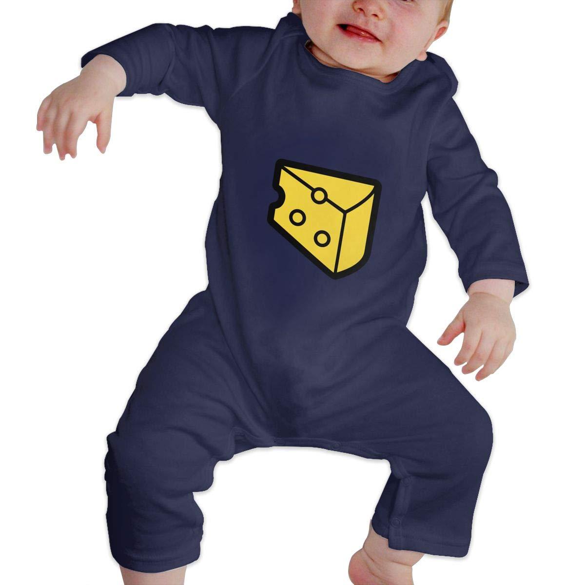 Suit 6-24 Months Q64 Newborn Round Collar Cheese Long Sleeve Romper Jumpsuit 100/% Cotton