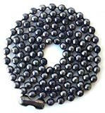 Ball Chain Large Bead Carbon Steel Gunmetal Necklace 30 Inch 4.8mm