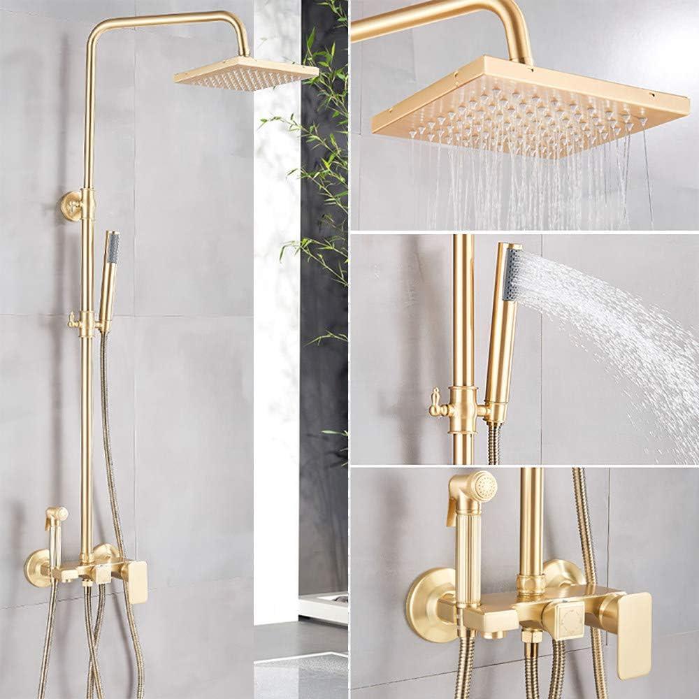 Brushed Gold Rain Shower Head Bath