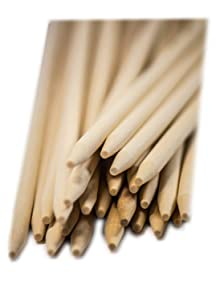 Eco Craft Stix Wooden Candy Apple Sticks - 5.5 Inch x 1/4 Thickness - Pack of 100 Sticks - Semi-Pointed on Tip