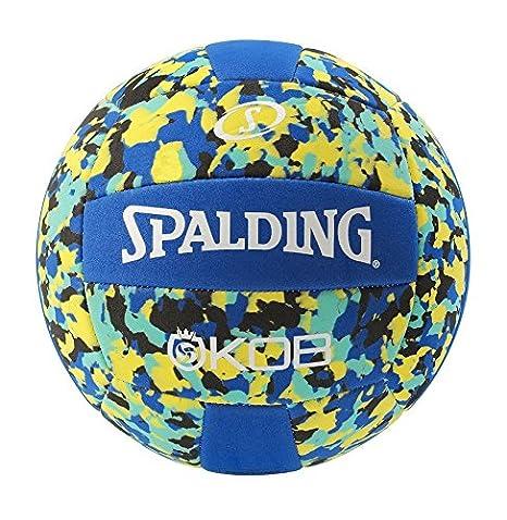 Spalding KOB 72-352Z Balón de Baloncesto, Unisex, Azul/Amarillo, 5 ...