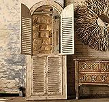 KALALOU CCG1021 WOODEN ARCHED WINDOW/LOUVER DECOR
