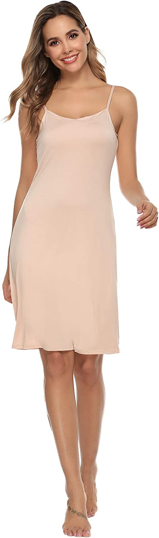 Vlazom Fond De Robe Femme Modal Sous Robe Antistatique Gainant Jupons Mini Robe Fonds De Robe