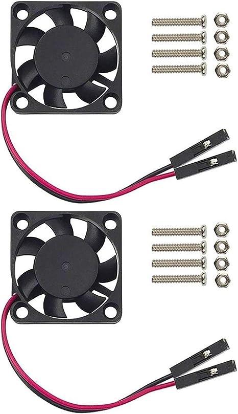 Easycargo Raspberry Pi Ventilador, 3,3–5v DC silencioso ventilador para Raspberry Pi 3B+, 3B, 2, B+, RetroFlag NESPI ...