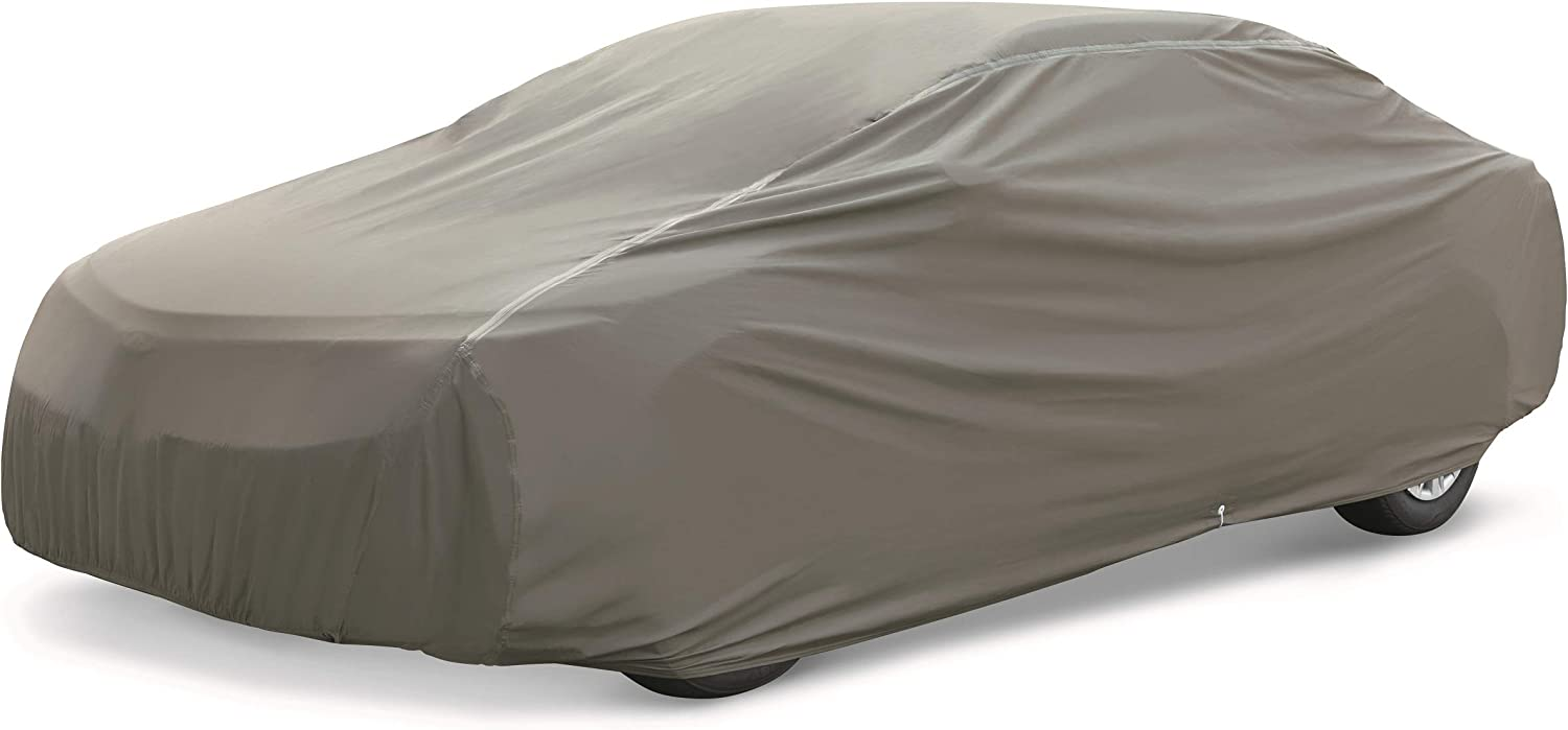 AmazonBasics Premium Waterproof Car Cover, for Cars up to 168 Inch, Compact