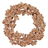 peace door beads - Natural Burlap Hydrangea with Bead Accents 13 Inch Fabric Wreath Decoration