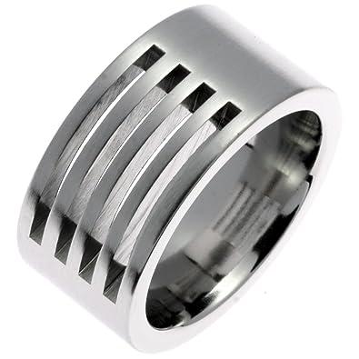 d33a24c471 CORE by Schumann Design Unisex-Ring Edelstahl ohne Stein/mattiert (CORE  Classic Collection