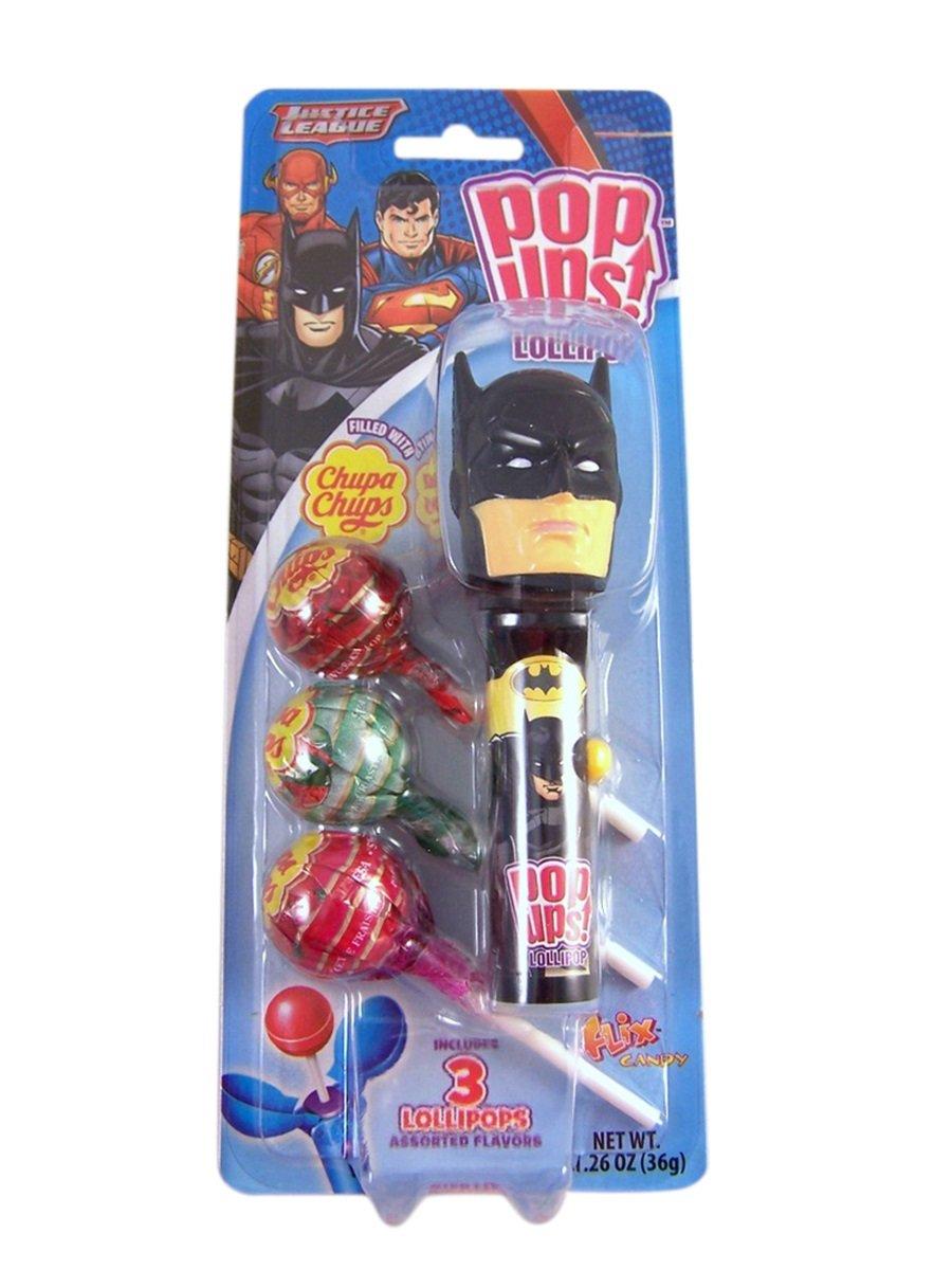 Justice League Pop Ups Lollipop Case with Chupa Chups Lollipops (Batman)