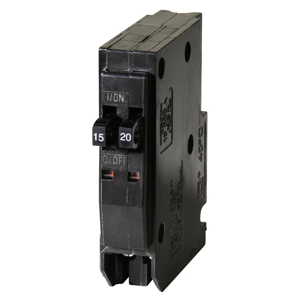 Square D by Schneider Electric QOT1520CP Qo 1-15 Amp 1-20 Amp Single ...