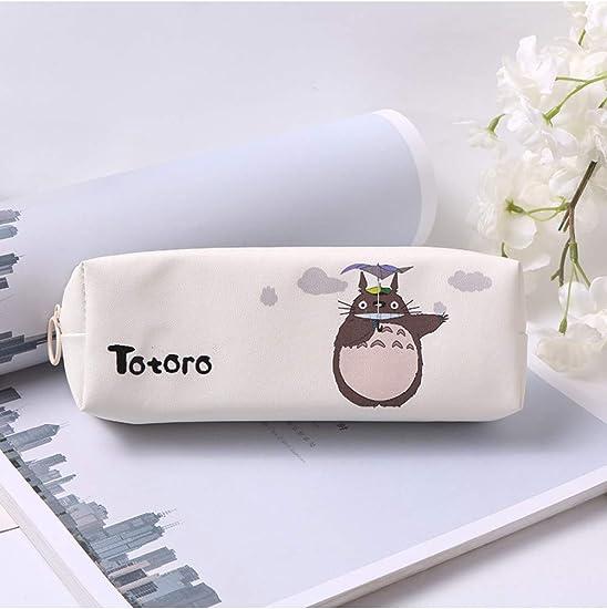1 Unid Dibujos Animados Japón Totoro Estuche Para Niñas Kawaii Pu Cuero Bolígrafo Lindo Papelería Bolsa Oficina Suministros Escolares,D: Amazon.es: Oficina y papelería