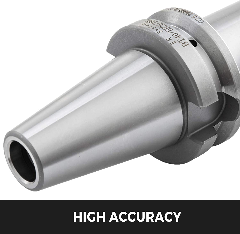 3pcs BT40 ER20 Collet Chuck Tool Holder 4/' 100mm 25000Rpm Accuracy 40Cr Frame